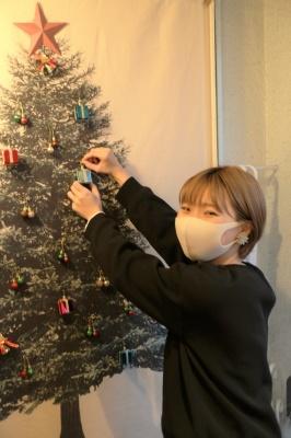 U-tract ユートラクト 寝屋川市 美容室 美容院 クリスマス ディスプレイ 飾付け